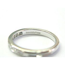 Tiffany & Co Platinum Diamond Channel Set Band Size 5.5 2.5mm