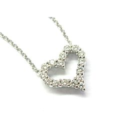 "Tiffany & Co Diamond Heart Pendant Necklace Platinum 950 16"" .25Ct"