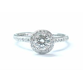 Ritani Platinum Diamond Engagement Jewelry Ring .85Ct