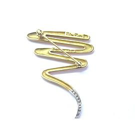 Tiffany & Co Paloma Picasso SQUIGGLE Diamond Pin Brooch .25Ct