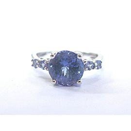 Fine Gem Tanzanite Solitaire With Accent White Gold Jewelry Ring 14KT 3.00Ct