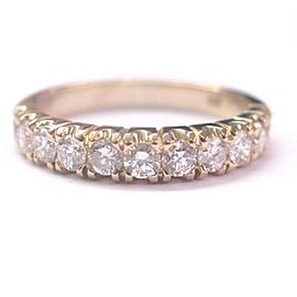 18KT Round Cut Diamond 11-Stone Solid Yellow Gold Band Ring .75CT