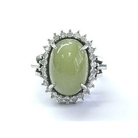Platinum Vintage NATURAL Cat's Eye Chrysoberyl Diamond Jewelry Ring 13.02CT