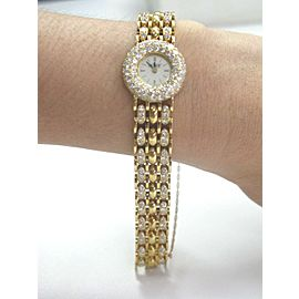 Alan Adler SOLID 18Kt Women's Diamond Quartz Watch Yellow Gold 6.00CT