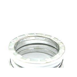 Bulgari B Zero 18Kt WG 7mm White Gold Band Ring Sz 52