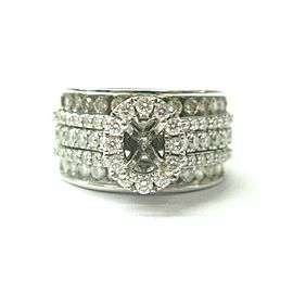 Neil Lane Diamond Semi Mount Ring 1.50Ct G-VS2 ( center fits Oval 5.5mm )