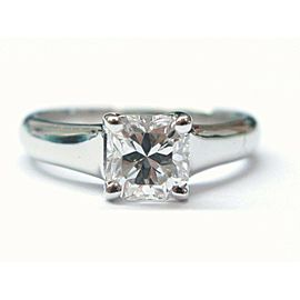 Tiffany & Co PLATINUM Lucida Diamond Engagement Ring F-VVS2 1.01CT