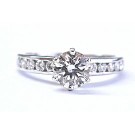 Tiffany & Co Platinum Diamond Channel Set Engagement Ring 1.39CT F-VS2