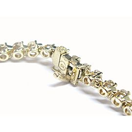 "Round Cut NATURAL Diamond Tennis Bracelet 3-Prong Yellow Gold 7"" 48-Stone 5.26CT"