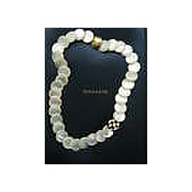 Tiffany & Co Mother of Pearl & Onyx Necklace 18Kt Yellow Gold 18""