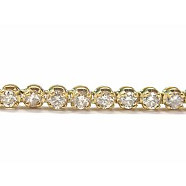 Fine Round Cut Diamond Tennis Bracelet Yellow Gold 14KT 5.00Ct