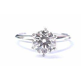 Tiffany & Co Platinum Round Diamond Solitaire Ring 1.61Ct I-VS1 TRIPLE EXCELLENT