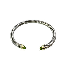 David Yurman Cable Classic Bracelet with Peridot and Gold