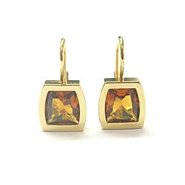 Cartier La Dona Citrine Earrings 18Kt Yellow Gold 1.20Ct 21mm