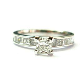 Natural Princess Cut Diamond Engagement Ring Solitaire W Accent 1.65Ct 14KT Whit