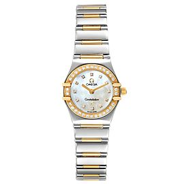 Omega Constellation Steel Yellow Gold Diamond Ladies Watch 1365.75.00