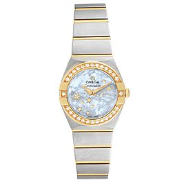 Omega Constellation Star Steel Yellow Gold Diamond Watch 123.25.24.60.05.001