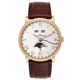 Blancpain Villeret Complete Calendar 8 Days Rose Gold Watch 6639