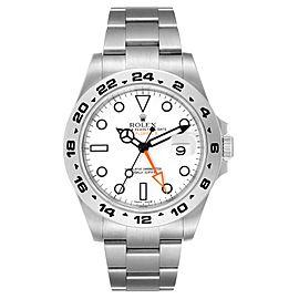 Rolex Explorer II 42 White Dial Orange Hand Steel Mens Watch 216570