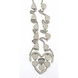 Chopard 18Kt Amore Hearts Diamond Necklace White Gold 1.23CT