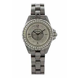 Chanel J12 Chromatic H3402 Diamond Bezel Ladies Watch Box Papers