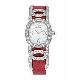Patek Philippe Ellipse 4832G MOP White Gold Diamond Ladies Watch