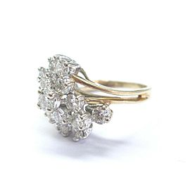NATURAL Round Diamond Cluster SOLID Yellow Gold Jewelry Ring 14Kt 2.26Ct F-VS1