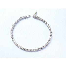 "Round Brilliant NATURAL Diamond White Gold Tennis Bracelet 40-Stones 7"" 4.40Ct"