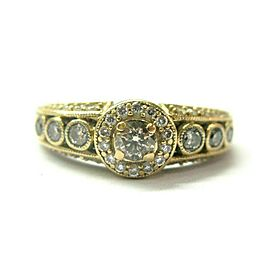 LeVian Fancy Brown Diamond Ring 14Kt Yellow Gold .69Ct