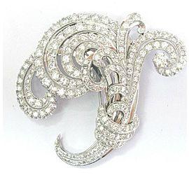 Vintage Platinum Diamond Buke Pin / Brooch
