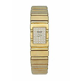 Piaget Quartz 15201C701 Diamond Dial 18K Yellow Gold Ladies Watch