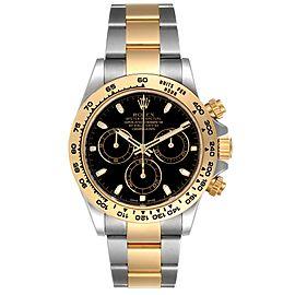 Rolex Cosmograph Daytona Steel Yellow Gold Black Dial Watch 116503