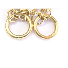 "DI MODOLO 18K YELLOW GOLD ""TEMPIA"" CIRCOLO Diamond EARRINGS"