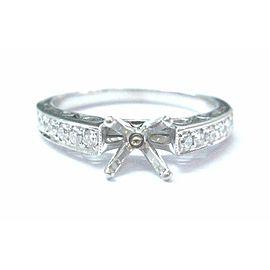 Simon G 18Kt Diamond White Gold Semi Mount Engagement Ring .24Ct