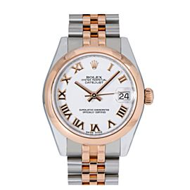 ROLEX DATEJUST MIDSIZE 178241 31MM WITH TWO TONE ROSE GOLD JUBILEE BRACELET