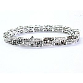 18Kt Round Brilliant Diamond Multi Color White Gold Tennis Bracelet 3.26Ct
