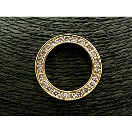 Circular Diamond Channel Set Pendant 18Kt Yellow Gold 2.00Ct 25.5mm
