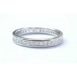 Fine Princess Cut Diamond White Gold Eternity Band 1.00Ct 14KT 3mm