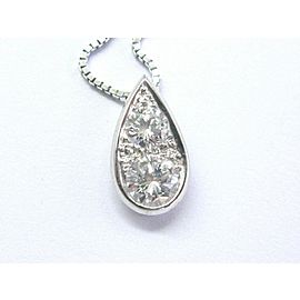 Fine Round Cut Diamond White Gold 2-Stone Pendant Necklace 1.02Ct E-VVS2