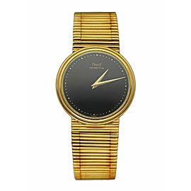 Piaget Vintage 7632 18K Yellow Gold Onyx Dial Quartz Ladies Watch