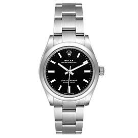 Rolex Midsize 31mm Black Dial Automatic Steel Ladies Watch 277200