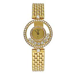 Chopard Happy diamonds 4054 18K Yellow Gold W/Diamond Bezel Box & Papers