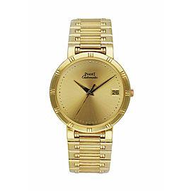 Piaget Dancer 15923 18K Yellow Gold Men's Watch Box & Papers