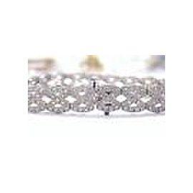Fine X WIDE Diamond Tennis Bracelet 2.60Ct White Gold