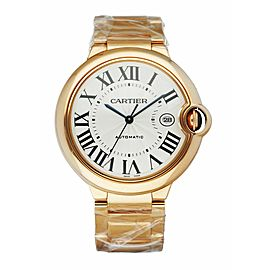 Cartier Ballon Bleu WGBB0016 18K Rose Gold Jumbo Men's Watch Box & Papers Like N