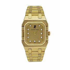 Audemars Piguet 18K Yellow Gold & Diamond Dial Ladies Watch