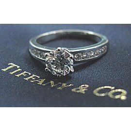 Tiffany & Co Platinum Diamond Channel Set Engagement Ring 1.38CT F-VS2