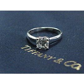 Tiffany & Co Platinum Lucida Diamond Engagement Ring E-VVS1 .87CT