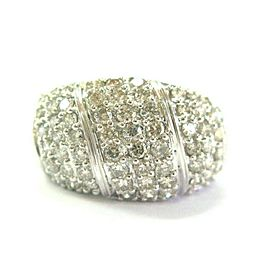 Diamond Pave Band Ring 14Kt White Gold 64-Stones 1.50Ct 13.4mm