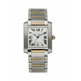 Cartier Tank Francaise 2302 Two Tone Automatic Large Men's Watch